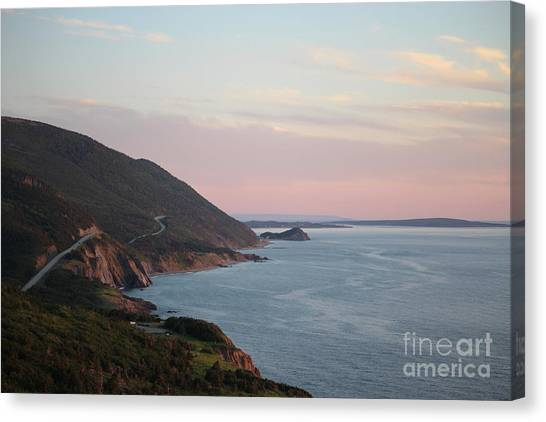 Cabot Trail Canvas Print - Cabot Trail At Dusk by Maria Pogoda
