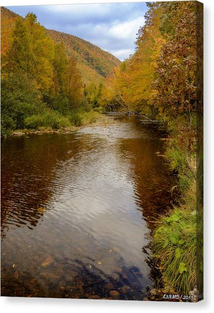 Cabot Trail Canvas Print - Cabot Trail Autumn 2015 by Ken Morris