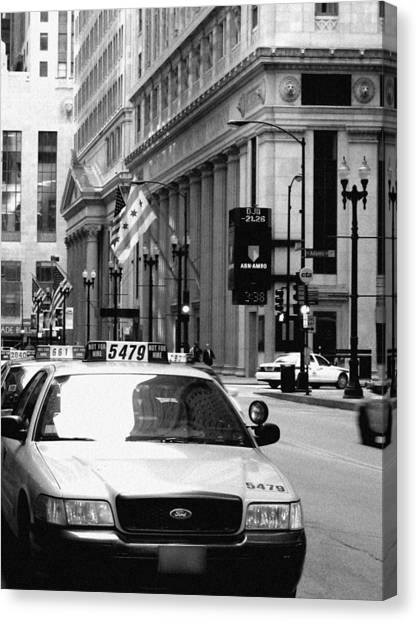 Cabs In The City Canvas Print