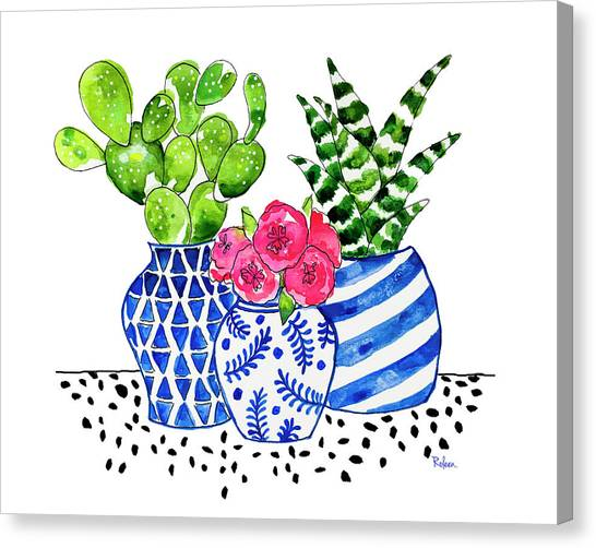 Cactus Canvas Print - Cactus Garden by Roleen Senic