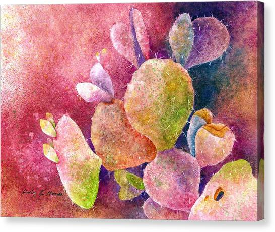 Heart Canvas Print - Cactus Heart by Hailey E Herrera