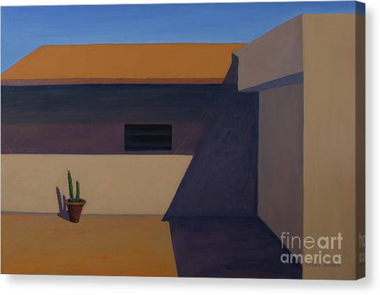 Cactus In Summer Heat Canvas Print