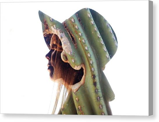 Cactus Suit Of Armor Canvas Print