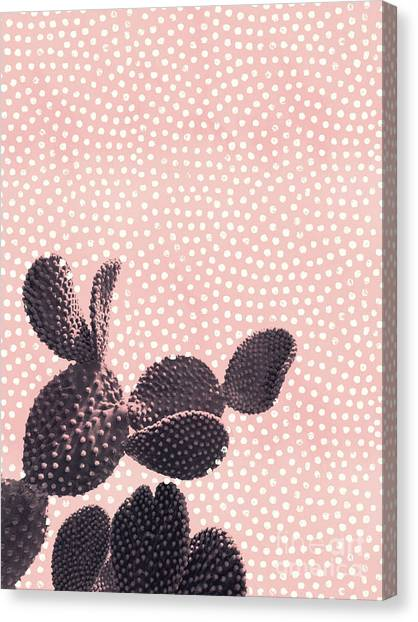 Cactus With Polka Dots Canvas Print