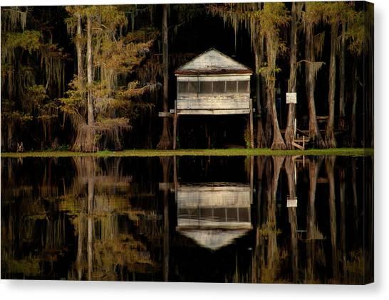 Caddo Lake Boathouse Canvas Print