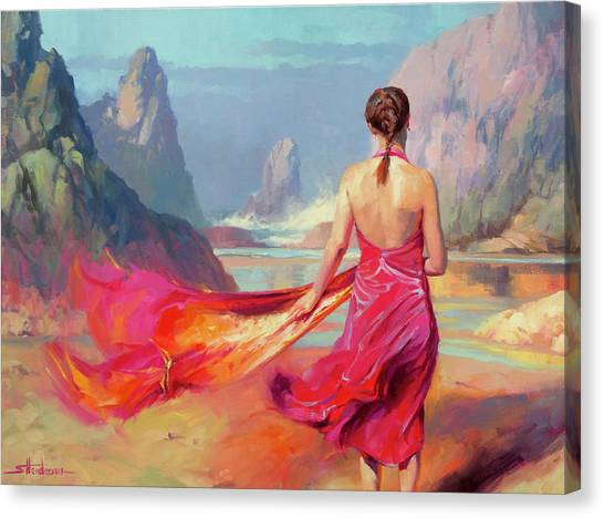 Coast Canvas Print - Cadence by Steve Henderson