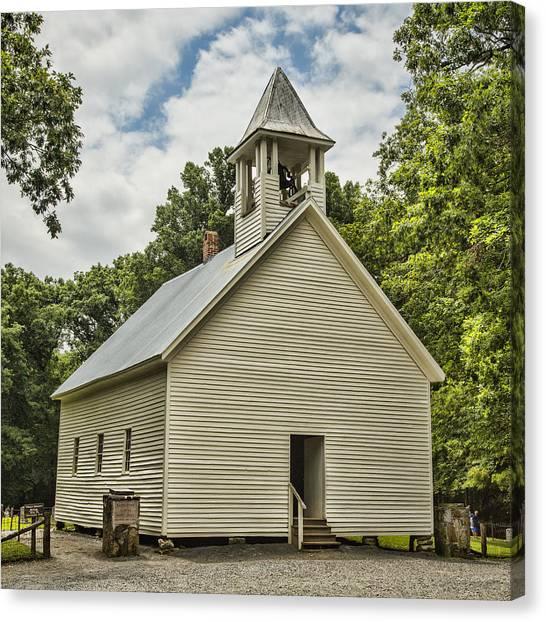 Fundamentalism Canvas Print - Cades Cove Primitive Baptist Church by Stephen Stookey