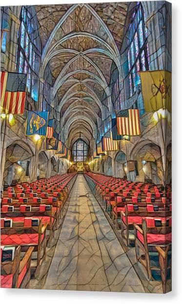Canvas Print featuring the photograph Cadet Chapel Remix by Dan McManus