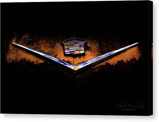 Canvas Print featuring the photograph Cadillac Emblem by Glenda Wright