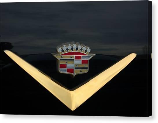 Cadillac Hood Emblem Canvas Print