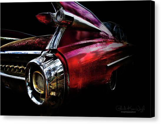 Canvas Print featuring the photograph Cadillac Lines by Glenda Wright