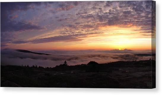 Cadillac Sunset IIi Panorama Canvas Print by Rockstar Artworks