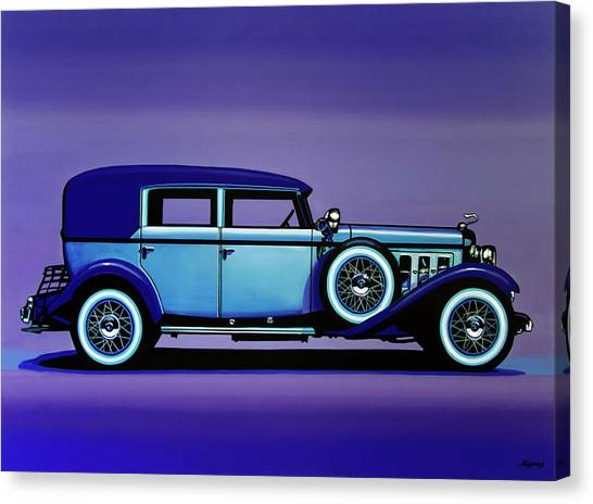 Harley Davidson Canvas Print - Cadillac V16 1930 Painting by Paul Meijering