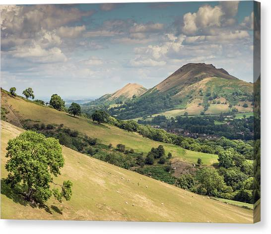 Caer Caradoc And The Lawley Canvas Print by Richard Greswell