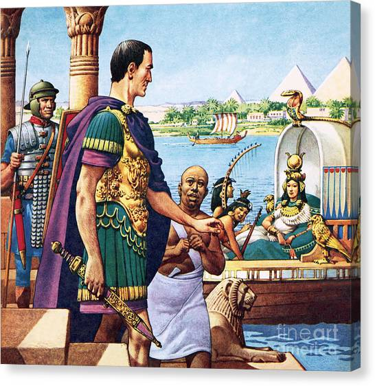 The Nile Canvas Print - Caesar And Cleopatra by Pat Nicolle