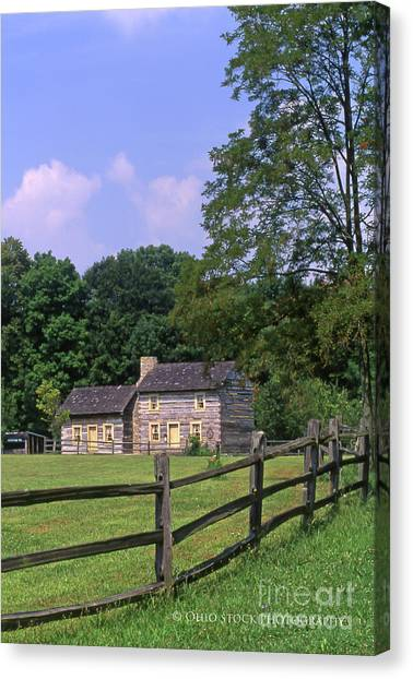 1e140 Caesar Creek Pioneer Village Photo Canvas Print