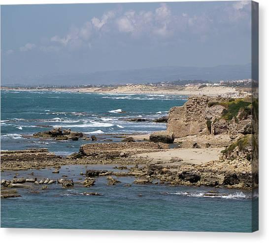 Caesarea Seascape Israel Canvas Print