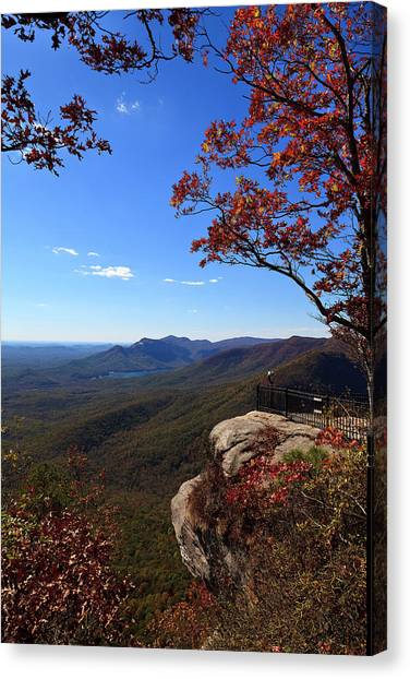Caesars Head State Park In Upstate South Carolina Canvas Print