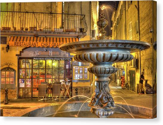 Cafe, Aix-en-provence Canvas Print
