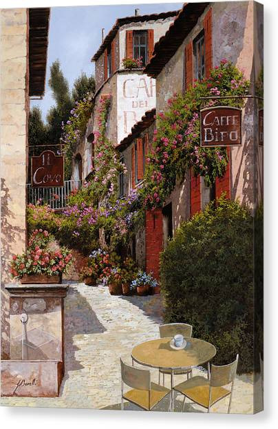 Cafes Canvas Print - Cafe Bifo by Guido Borelli