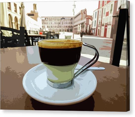 Cafe Bombon Canvas Print
