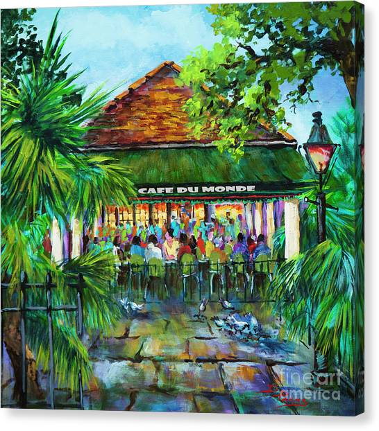 Cafe Du Monde Morning Canvas Print