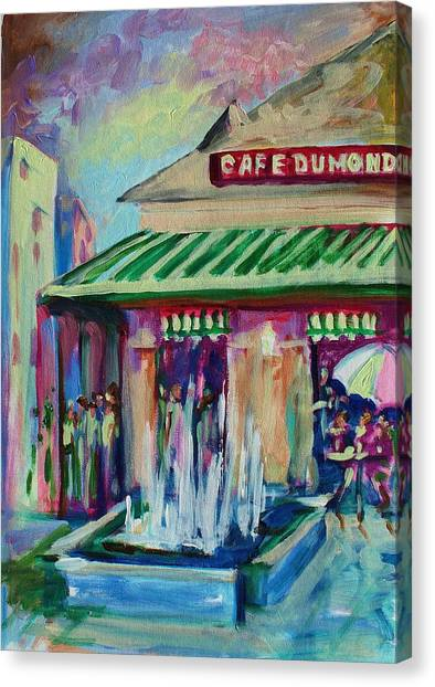 Cafe Du Monde Canvas Print by Saundra Bolen Samuel