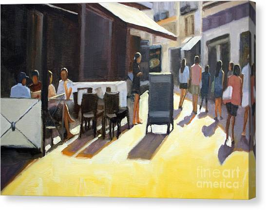 Cafe In Nice Canvas Print