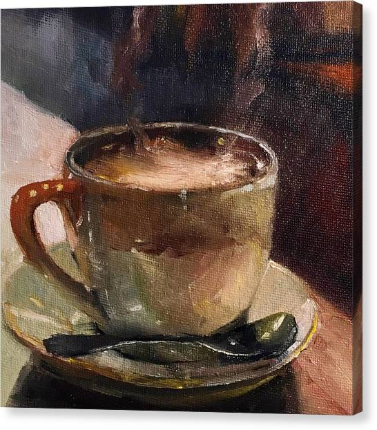 Cafe Love Coffee Painting Canvas Print
