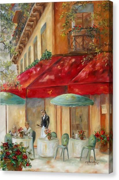 Cafe' Paris Canvas Print