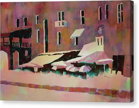 Cafe Porto Venere France Canvas Print