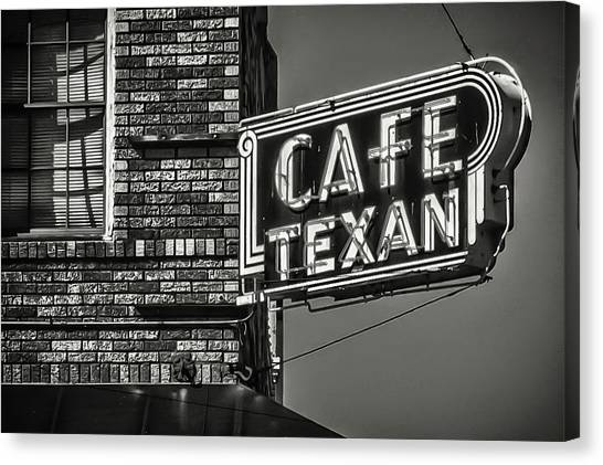 Cafe Texan Canvas Print