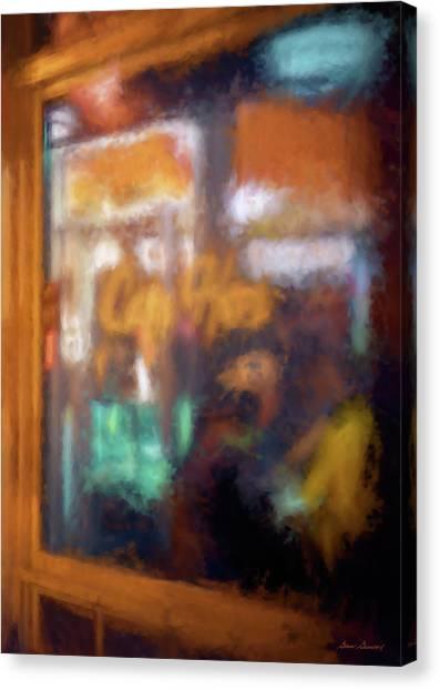 Cafe Window Canvas Print