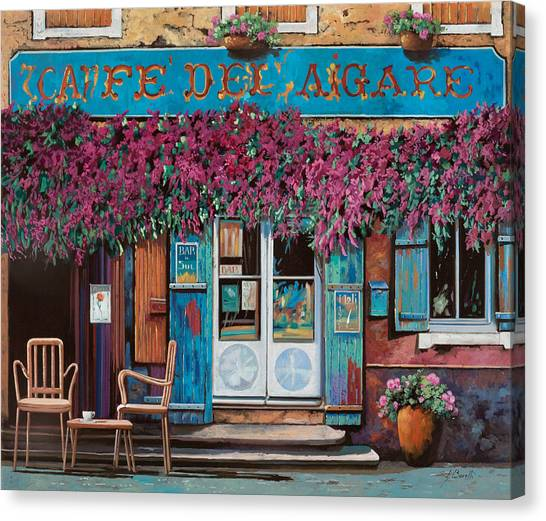 Bar Canvas Print - caffe del Aigare by Guido Borelli