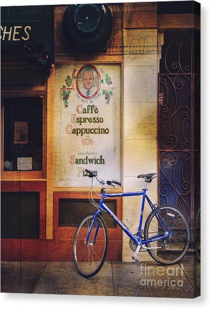Caffe Expresso Bicycle Canvas Print