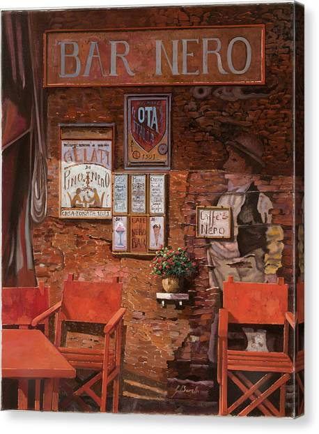 Bar Canvas Print - caffe Nero by Guido Borelli
