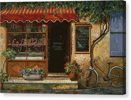 Cafes Canvas Print - caffe Re by Guido Borelli
