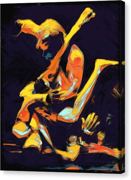 Mma Canvas Print - Cage Fighters by Deborah Lee
