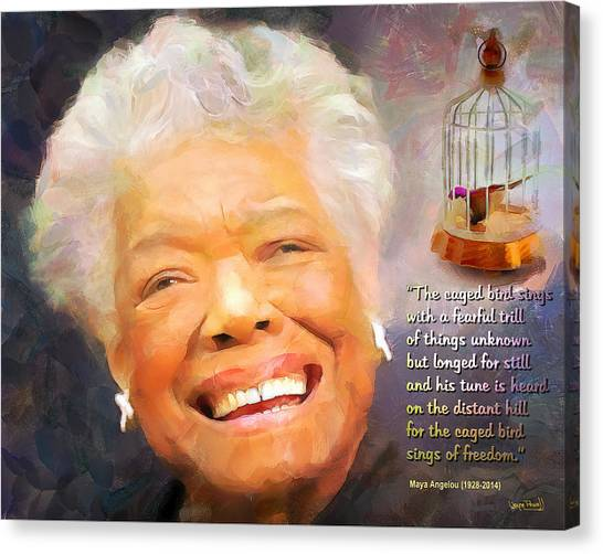 The Caged Bird Sings - Tribute To Maya Angelou Canvas Print