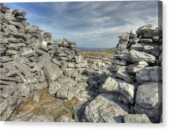 Caherdooneerish Stone Fort  Canvas Print by John Quinn