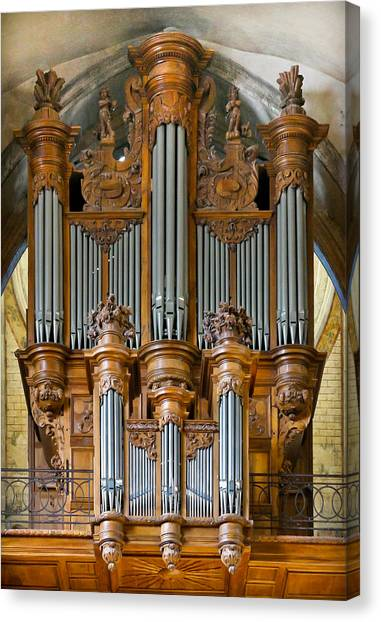 Cahors Cathedral Organ Canvas Print