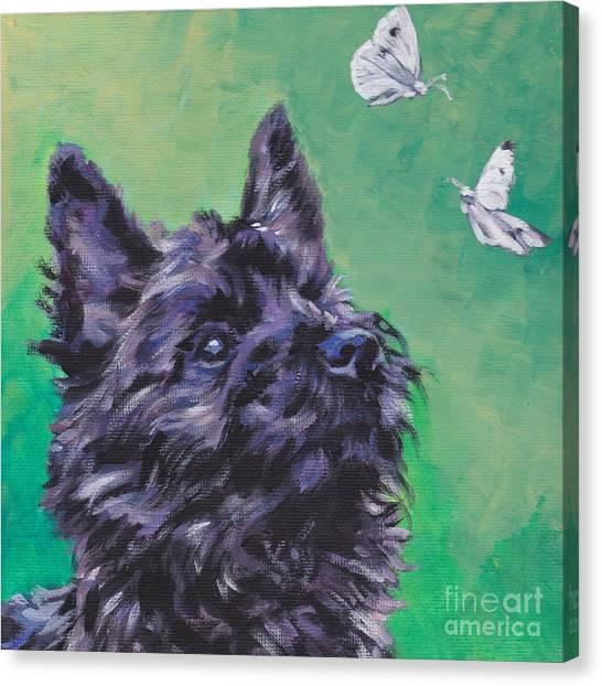 Brindle Canvas Print - Cairn Terrier by Lee Ann Shepard