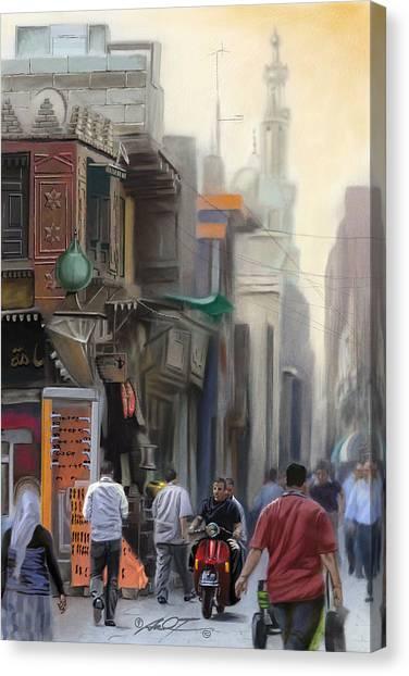 Cairo Street Market Canvas Print