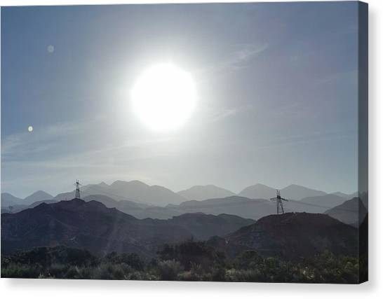 Cajon Pass Sunset Canvas Print