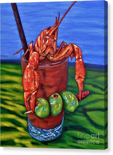 Bloody Mary Canvas Print - Cajun Cocktail by JoAnn Wheeler