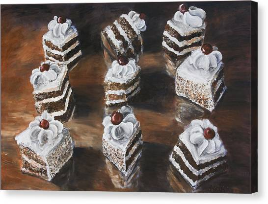 Cake Canvas Print by Nik Helbig