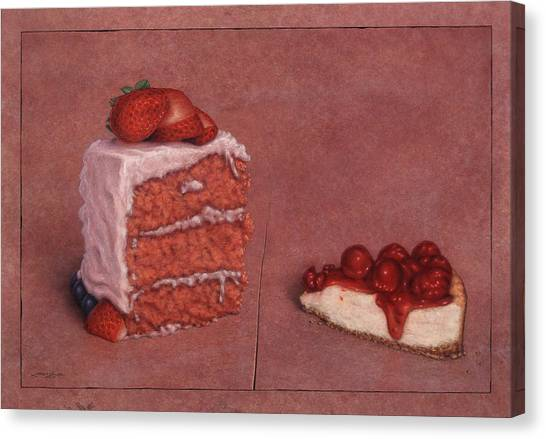 Strawberry Canvas Print - Cakefrontation by James W Johnson