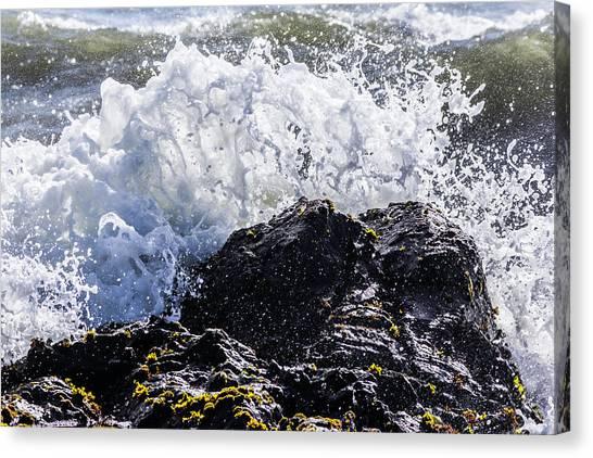 California Coast Wave Crash 4 Canvas Print