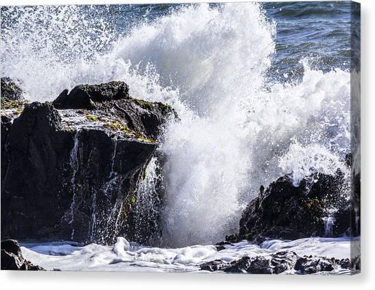 California Coast Wave Crash 6 Canvas Print