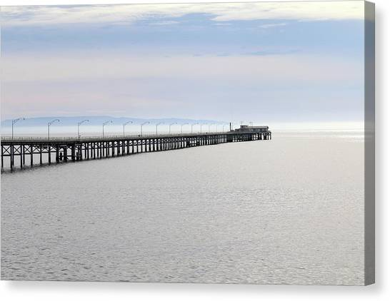 Big West Canvas Print - Cal Poly Pier by Art Block Collections